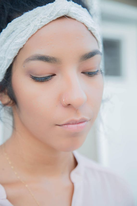 Snug Fitting Nose Ring Hoop Tight 20g Nose Ring Hoop Gold