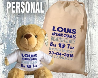 Welcome Little Prince - Commemorative Teddy & Gift Bag - HRH Prince Louis