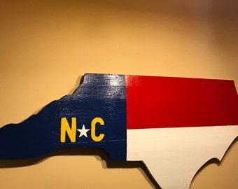 Map of North Carolina Wooden Wall Art