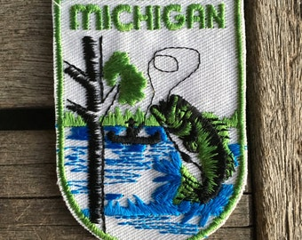 Michigan Vintage Souvenir Travel Patch by Voyager