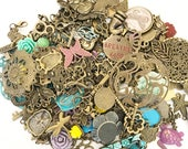 Antique Brass Charms Pend...