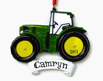 John Deere Tractor Personalized Ornament