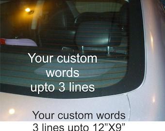 Your Custom car decal sticker NEW vinyl