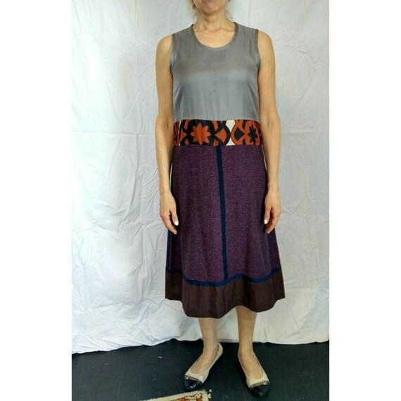 Vintage Multi-color dress 1990s Comme des Garcons - TRICOT patchwork