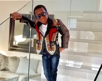 African clothing, Ankara Boy Blazer, African kids Jacket, Children Blazer/Jacket, African kids Suit/Blazer, African fashion,  Men's Jacket