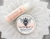 Organic Lavender & Grapefruit Lip Balm // Tube // Tin // All Natural