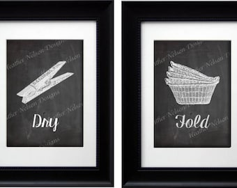 Wash Dry Fold Repeat Laundry Prints- DIGITAL