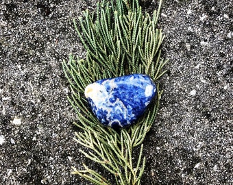 Crystals, Sodalite, Tumbled Sodalite, Reiki Charged (#2) EXACT Crystal Shown