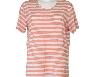 Vintage • Blouse • Shirt • Women's Orange Shirt • Women's White Blouse • Floral Print Shirt • Women's White Shirt • Hipster • Mod • Classic