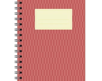 Notebook A6 - Red Pattern