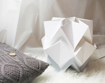 Table lamp bicolor sizes S and M | handmade contemporary origami lighting  | Scandinavian design perfect for your home | pure shapes