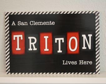 8x12 San Clemente Tritons Sign