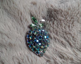 1950's Dazzling Berry Brooch Signed Warner