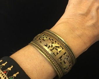Brass Filigree Cuff bracelet , made in  India , free shipping !