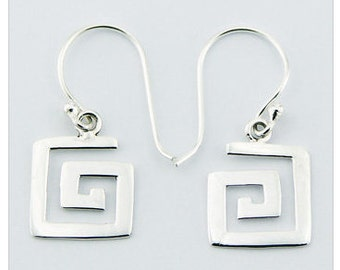 Dainty Geometrical Spiral Dangle 925 Sterling Silver Earring
