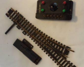 Vintage Sakai Model Train HO Gauge Left Switch and Controller