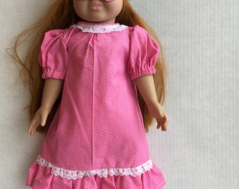 """Nightgown with eye mask. Fits 18"""" dolls such as American girl."""
