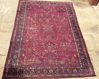 Grape Sarouk Semi-Antique Original color