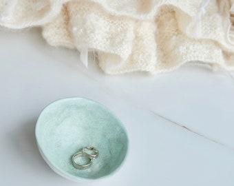 Ring security, Ceramic ring dish, Wedding ring holder, Ring cone, Boho jewelry holder, Personalized Trinket dish Jewelry storage Ring bearer