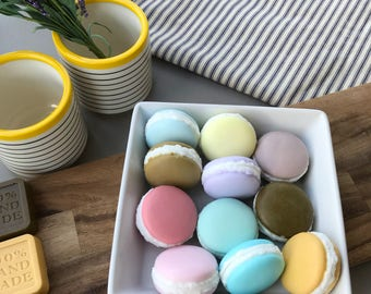 macaron soap / tea-tree soap / handmade soap / gift /