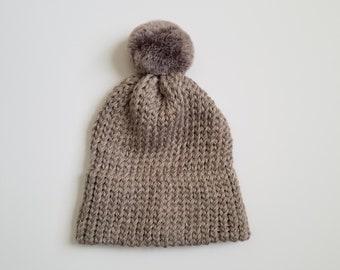 Alpaca double brim hat // double brim toque // double brim hat // wool hat // winter hat // knit hat