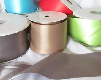 Double Faced Satin Ribbon Samples  / Bridal Ribbon / Bridal Sash / Satin Ribbon / Samples