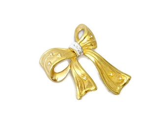 Bow Brooch, Vintage Pin, Brooch Signed NLH, Landau, Costume Jewelry, Birthday, Special Occasion