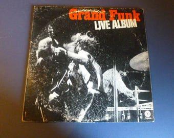 Grand Funk Railroad Live Vinyl Record LP  SWBB-633 Double Album Capital Records 1970