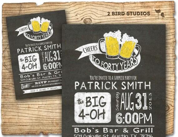 30th Birthday Invitation Beer Birthday Party Invitations