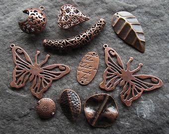 Mixed lot of Antique Copper Pendants