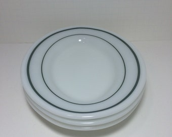 Vintage Restaurant Ware Pyrex Milk Glass Emerald Green 3 Small Platters by Corning & Tableware by corning   Etsy