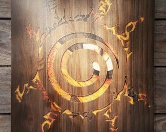 Naruto: Eight Sign Seal Woodblock Art