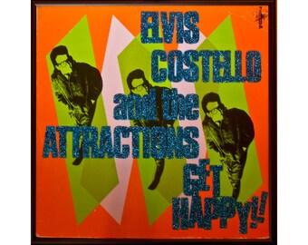 Glittered Elvis Costello Get Happy Album
