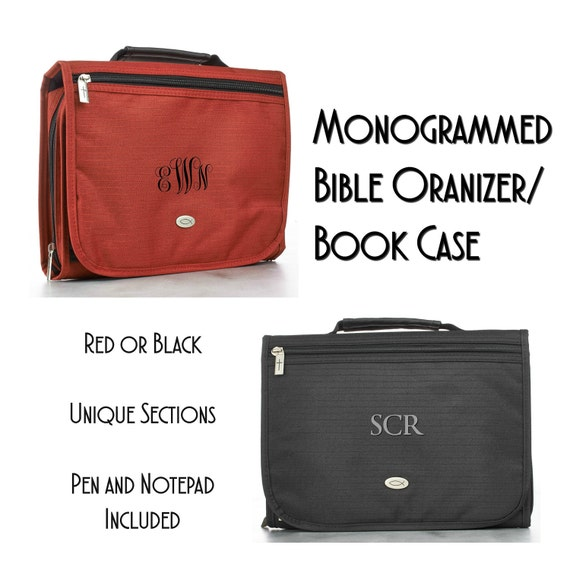 Monogrammed Bible/Book Organizer and Cover
