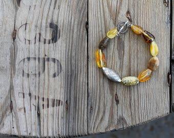Baltic Amber Bracelet Ethnic Style Multi color Bracelet
