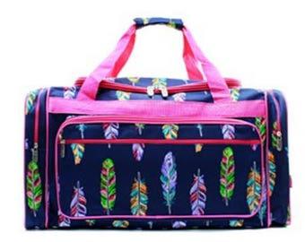 "Personalized 20"" Duffel Bag,  ARROWS Duffel Bag,  Girls Duffel Bag,  Arrow Bag Luggage, Boho Duffel"