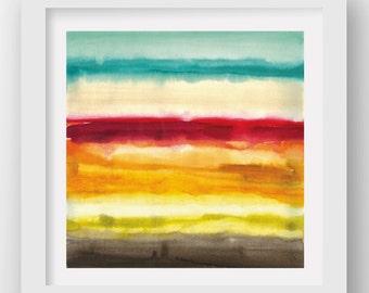COLOR + RAIN SUNDAY, limited edition giclee art print, rain art, abstract wall art, modern art print, coastal art