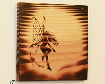 Daphne - Engraved Fairy Wall Hanging