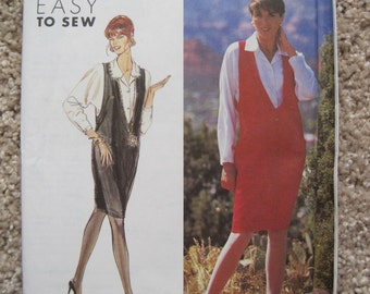 UNCUT Misses' Jumper and Blouse - Simplicity Sewing Pattern 7492 - Vintage 1991
