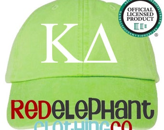 Kappa Delta Hat, Monogrammed Baseball Cap, Personalized Baseball Hat, Sorority Gift, Embroidered Ball Cap, Monogrammed Baseball Hat