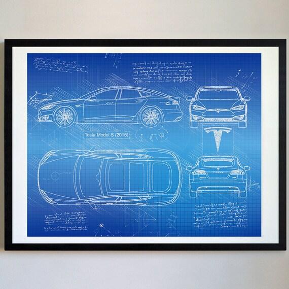 Tesla model s 2016 tesla artwork blueprint specs blueprint te gusta este artculo malvernweather Choice Image