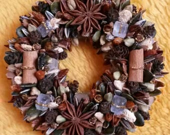 Spice wreath (aniseed, cinnamon, carnation, ginger...) Hand made!!!