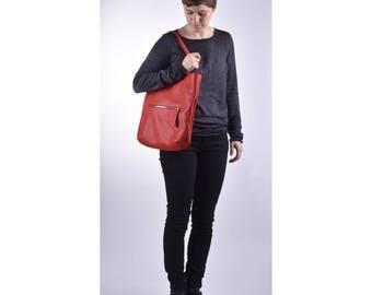"""Shopper """"Caroline"""" Fraise Shoulder Bag"""