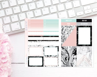 Marble Obsessed Pocket TN Kit - Planner Stickers