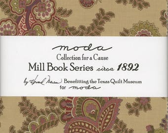 Collections for a Cause - Mill Brook Series circa 1892 Charm Pack from Moda, Set of 42 5-inch Precut Cotton Fabric Squares (46200PP)
