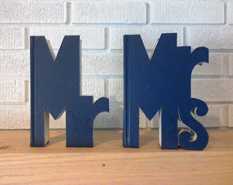 MR. and MRS. SET, 10 Colors to Choose From, Cut Readers Digest Books, Wedding Gifts,  Anniversary Gifts, Special Occasions, Birthday Gifts