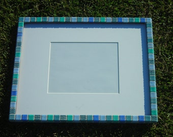16 X 20 Blue Glass Tile Frame