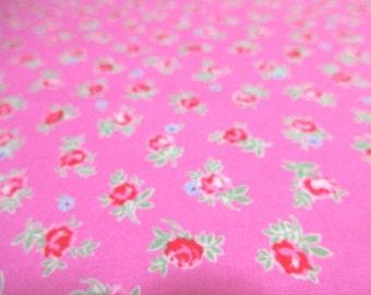 SALE Japanese Fabric LECIEN Flower Sugar Red Flower Pink  FQ 31131