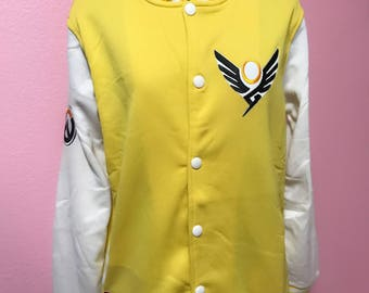 Mercy Overwatch inspired Varsity Jacket