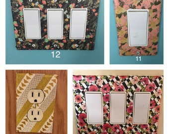 Washi Tape Light Switch/ Outlet Covers